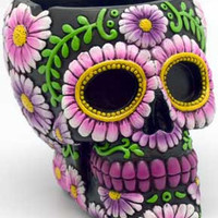 Black/ Purple Skull ashtray