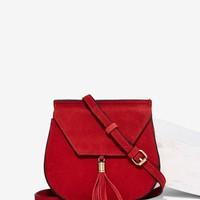Nila Anthony Wild West Suede Bag - Red