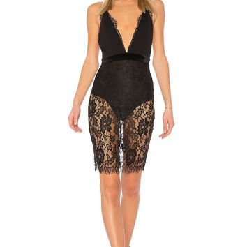 Iggy Black Lace Mini Dress