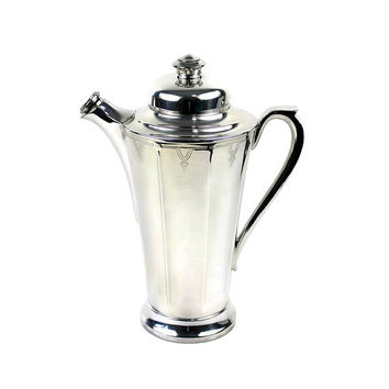 Art Deco Cocktail Shaker Silver Plate Wm Rogers & Son Paris 1927