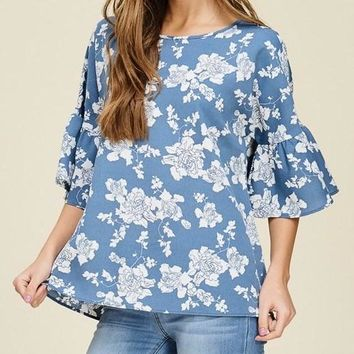 Serendipity Ruffle Sleeve Top