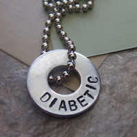 Personalized Medical Alert Necklace - Diabetic Asthma Allergies Autism Pacemaker Down Syndrome Alzheimer's Drug Sensitivity
