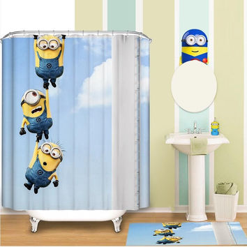 MINIONS WATERPROOF SHOWER CURTAIN