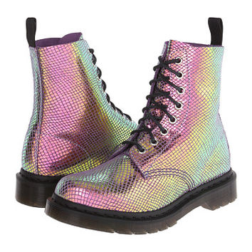 Dr. Martens Pascal 8-Eye Boot Violet Mirror Shift Suede - Zappos.com Free Shipping BOTH Ways