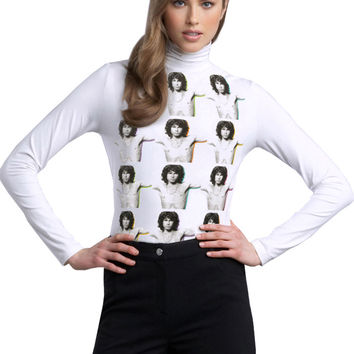 Doors Jim Morrison Torso Repeat Turtle Neck Sweater