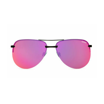 Quay - The Playa Sunglasses - Black/Pink Mirror