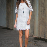 Lure You In Dress, White