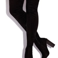 High Society Thigh High Boot - Black