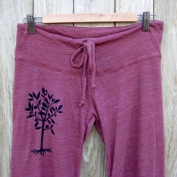 little seedling Tree Long Yoga Pants in Berry by nicandthenewfie