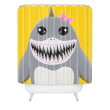 Mandy Hazell Shark Tooth Sally Shower Curtain