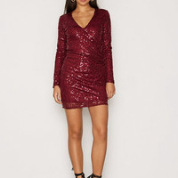 Wrap Sequin Dress, NLY One