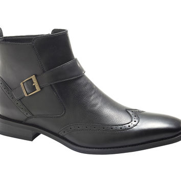 Men's Single Monk Strap Fashion Boots