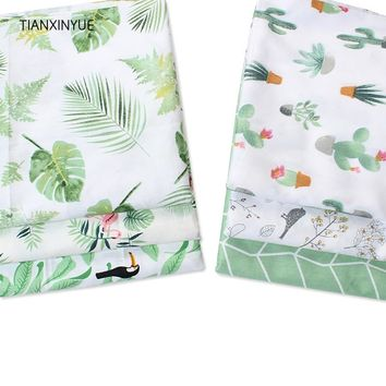 TIANXINYUE Cotton fabric Banana leaf fabric twill meter fabric DIY bedding cloth Sewing patchwork quilting fabric