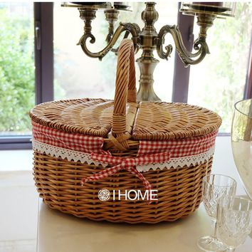 Wicker Picnic basket handmade