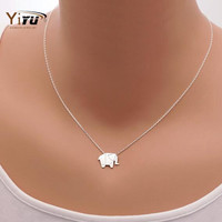 2016 New Fashion Necklaces Origami Elephant Geometric Origami Necklace Woodland Elephant Animal Jewelry Mother's Day Gift N192