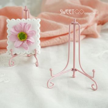Pink cookies stand dessert decorating holder 10cm bakeware tools easel decoration for wedding party Baby girl birthday