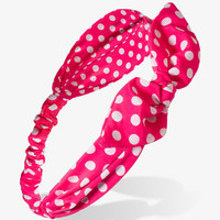 Knotted Polka Dot Headwrap