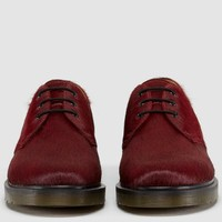 Cherry Horse Hair Doc Martens
