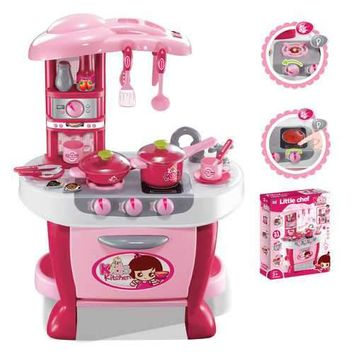 Deluxe Kitchen Appliance Cooking Play Set with Lights & Sound