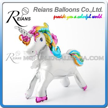 10pcs stand Foil Unicorn Balloons Birthday Party Decorations Kids Happy Birthday Letter Balloons Unicorn Party Decor Baby Shower
