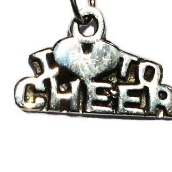 Sterling Silver I Love to Cheer Charm Pendant