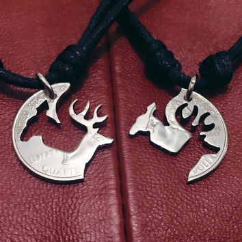 Buck and Doe necklaces