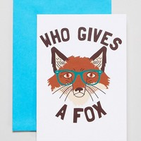 Who Gives A Fox Card at asos.com