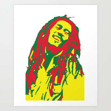 Rasta Marley Man Art Print by BlossomingLOVE