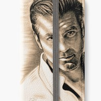 'Clooney Antic' iPhone Flip-Case by GittaG74
