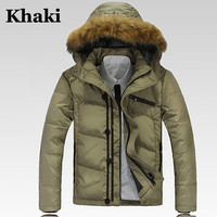Fur Trim Puffer Jacket With Hood