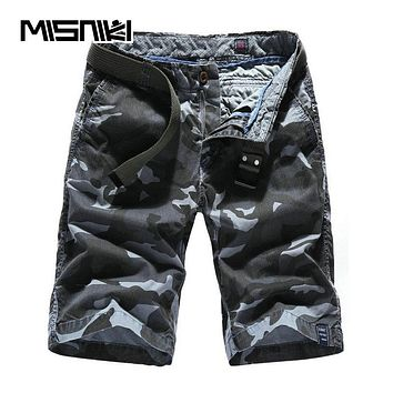 Summer New Camouflage Cargo Shorts Men Casual Cotton Beach Male Men's Shorts