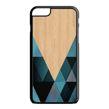 wooden geometric iPhone 6S Plus Case