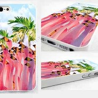 case,cover fits iPhone, iPod models>flamingo,abstract,bright,pastel,tropical