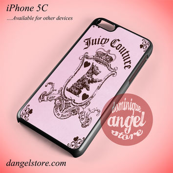 Juicy Couture Pink Phone case for iPhone 5C and another iPhone devices
