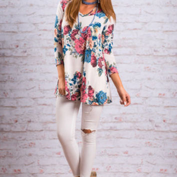 Own The Day Top, Cream