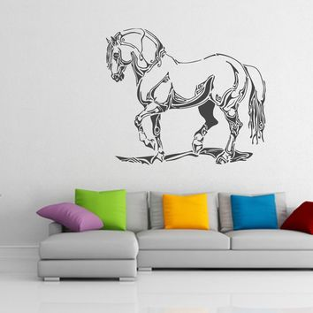 ik928 Wall Decal Sticker abstract horse tattoo style bedroom