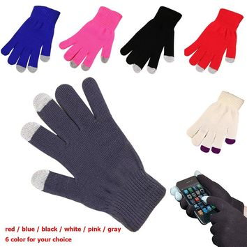 Winter Soft Gloves Men Women Touch Screen Glove Women Texting Outdoor Capacitive Smartphone Stretchy Windproof Knit Warm Mittens