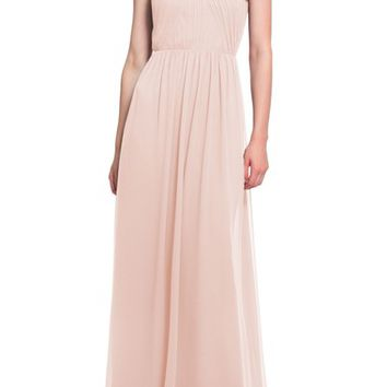 #Levkoff Open Back Halter Neck Chiffon Gown | Nordstrom
