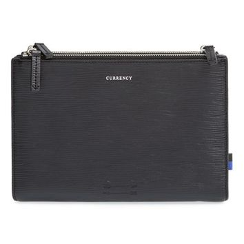 Men's Ben Minkoff 'Ruxbin' Embossed Leather Pouch - Black