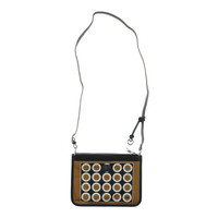 Brighton Womens Vera Coated Double Zip Crossbody Handbag