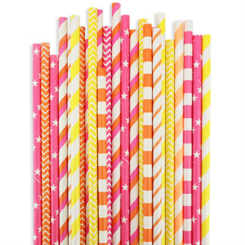 Sunrise Paper Straw Assortment