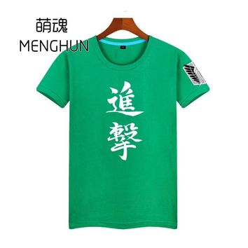 Cool Attack on Titan no /  men's tee shirt anime t shirt  wings of dom AC121 AT_90_11