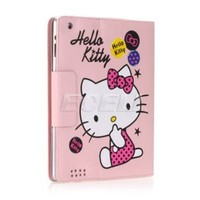 Ecell - PINK HELLO KITTY LEATHER CASE & STAND FOR APPLE iPAD 2