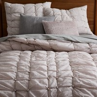 Knotted Quilt + Shams - Pink Blush