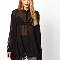 ASOS Oversized Blouse with Seam Detail