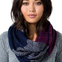 Tritone Knitted Infinity Scarf