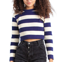 Vintage 90's New Kid in Town Cropped Sweater - XS/S/M