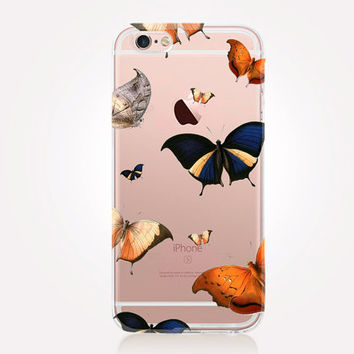 Transparent Butterflies iPhone Case- Transparent Case - Clear Case - Transparent iPhone 6 - Transparent iPhone 5 - Transparent iPhone 4