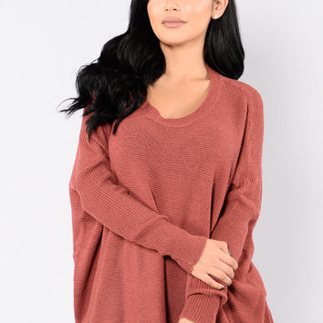 No One Is To Blame Sweater - Red