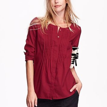 Old Navy Womens Pintuck Tunic